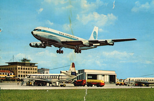 Stuttgart - Boeing 707 at Airport (Postcard)