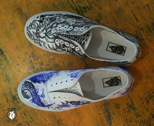 Danny Sun custom painted Van's by Judi Oyama