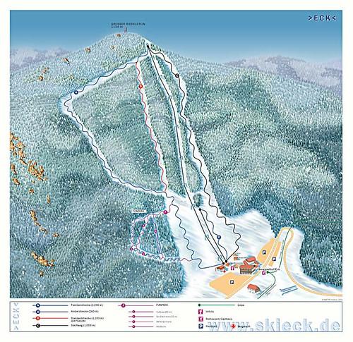 Eck - Riedelstein - mapa sjezdovek