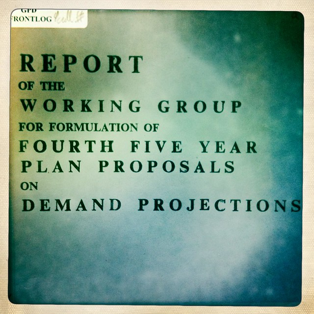 Report of the working group for formulation of fourth five year plan proposals on demand projections