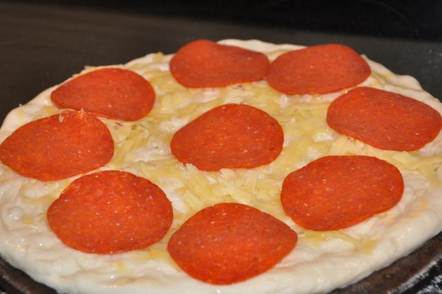 Pizza – Pepperoni, Pancetta, Mushroom