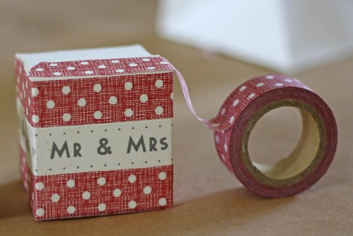 red polka dot tape | wedding favour boxes by The Wedding of my dreams