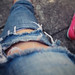 Fave shredded jeans and Toni's new classic keds! by Cleography