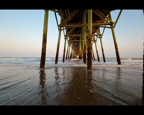 ocean sunset seascape beach sc water landscape pier sand surf waves salt southcarolina atlantic surfside nikonafsnikkor1635mmf4gedvr