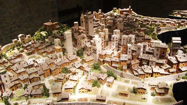 Ricostruzione di San Gimignano del XIV secolo