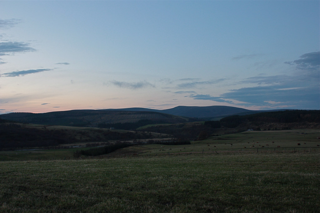 Hills of Cromdale from outside Tomintoul