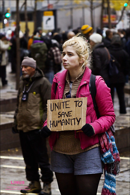 Occupy Wall Street, Zucotti Park, November 17, 2011.