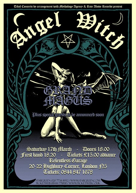 Angel Witch Grand Magus London Garage 2012 gig listings metal gigs www.metalgigs.co.uk