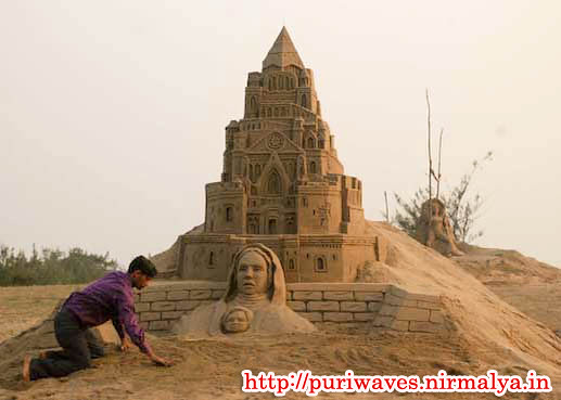 Sand Art Park at Puri By Internationally Sand Artist and Animator Sri Manas kumar Sahoo