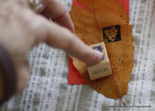 Adornos de Navidad con hojas secas de castaño. Fácil, bonito y barato