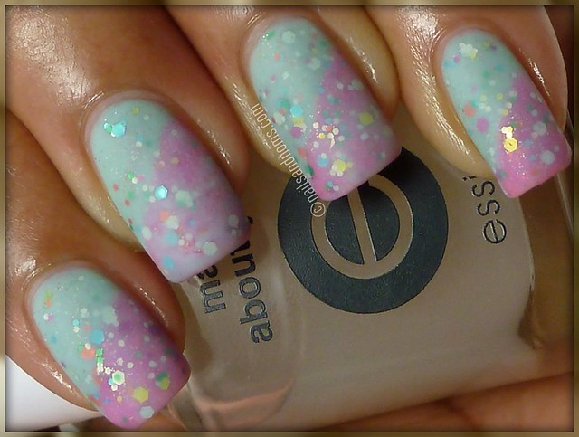 Glitter Sandwich (Matte): Cotton Candy