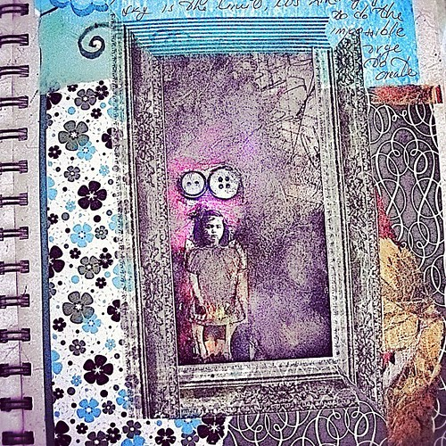 #visualjournal #imagery #whatmakesmehappy #prettytape #fun #mixedmedia