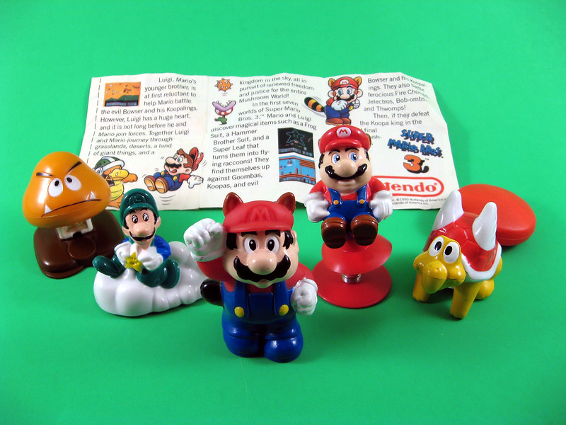 SMB3 1990 Happy Meal Toys