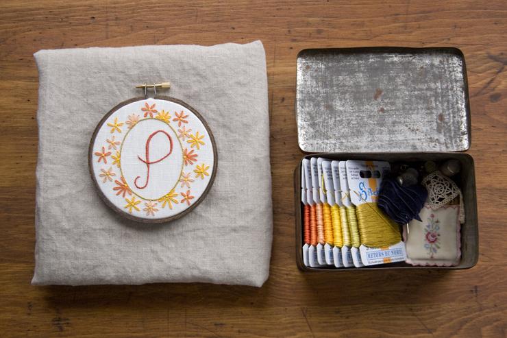 Monogram Embroidery Class
