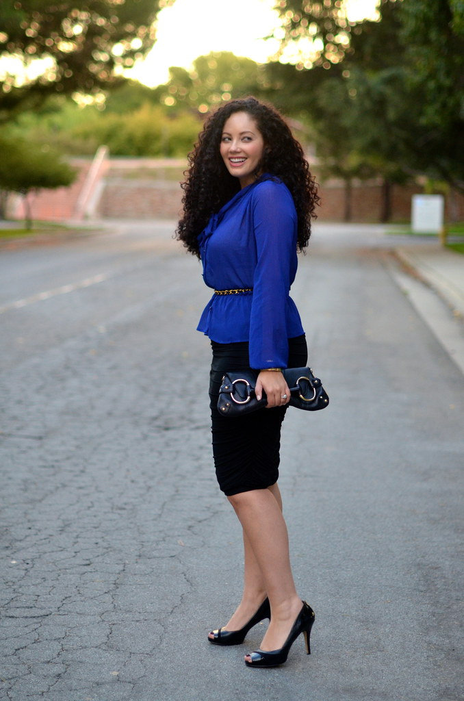 Curvygirlsrock Cobalt Peplum Feat Girl With Model Citizen Magazine The Blog
