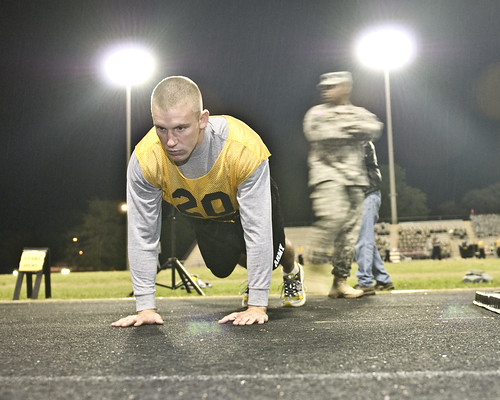 Warrior push-up by The U.S. Army