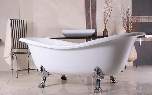 top nostalgische freistehende badewanne cleo mit gestell 10jahre garantie neu ebay. Black Bedroom Furniture Sets. Home Design Ideas