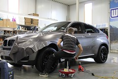 Carwrap BMW X6 Frozen Grey Mat