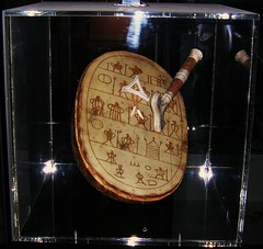 A Sami Runic Drum from Finnmark, Norway. Samisk runebomme from Finnmark in Norway