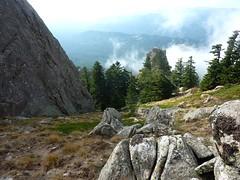 Bocca Cilindinu : le ravin W vers l'aiguille secondaire