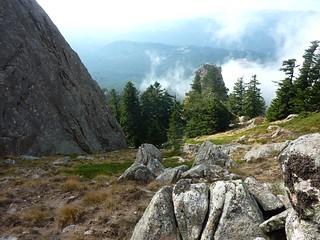 Bocca Cilindinu : le ravin Ouest vers l'aiguille secondaire