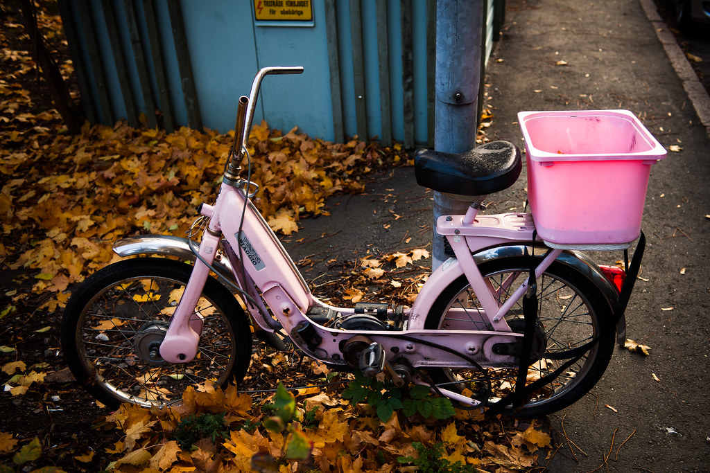 Pink Moped