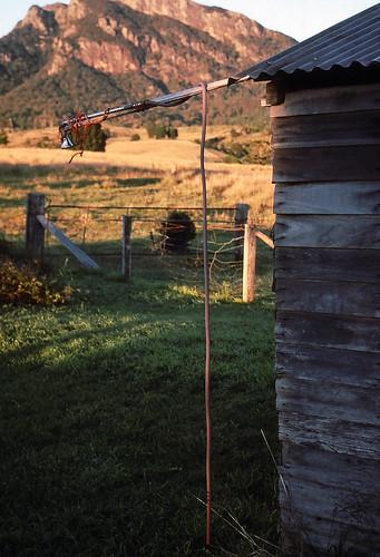 house cold film sunrise 35mm shower mt farm maroon australia slide scanned qld queensland 1989 kodachrome scenicrim seqld mtbarneynationalpark