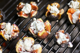 Grilled Figs Stuffed with Goat Cheese