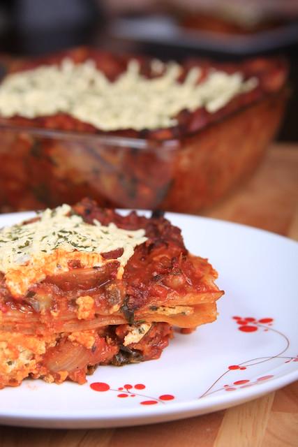 Field Roast and Daiya Lasagna