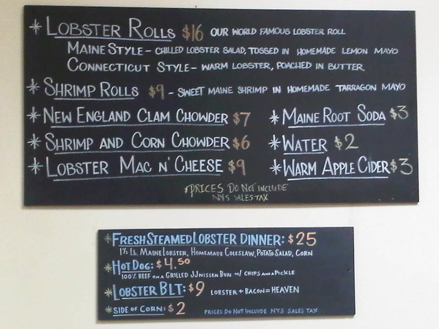 Red Hook Lobster Pound Menu from TheGirlsNY