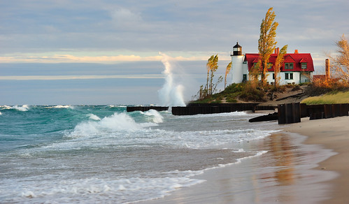 """Winds of Change""   Point Betsie Lighthouse ~ Crystallia, Michigan"