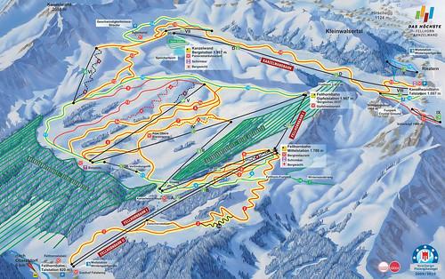 Oberstdorf - Fellhorn Kanzelwand - mapa sjezdovek