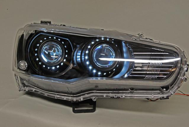 evo x quad bi xenon hid projector headlights an album on. Black Bedroom Furniture Sets. Home Design Ideas