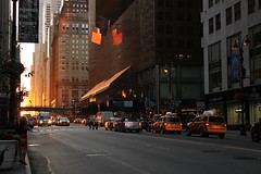 New York Sunset 42th street