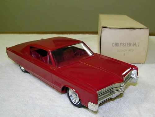 1968 Chrysler 300 Promo Model Car - Scorch Red