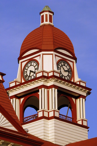 Gibson County Courthouse Clock Tower detail - Trenton, TN