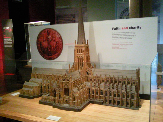 Model of church at Museum of London