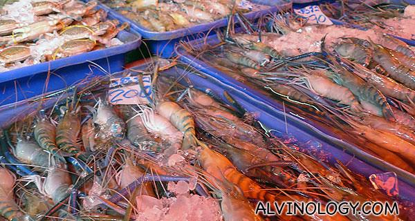 Blue prawns