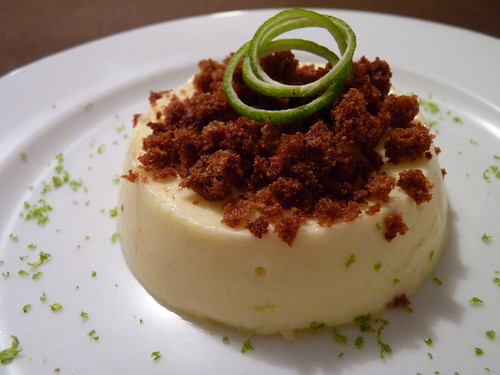 crème citron vert et crumble pain d'épices