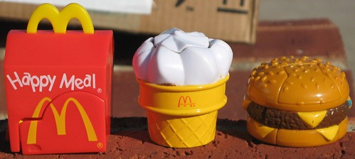 McDonald's happy meal transforming toys