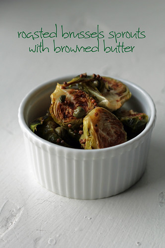 roasted Brussels sprouts with capers and lemony browned butter