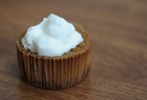 Primal Whipped Cream on Paleo Pumpkin Cupcake