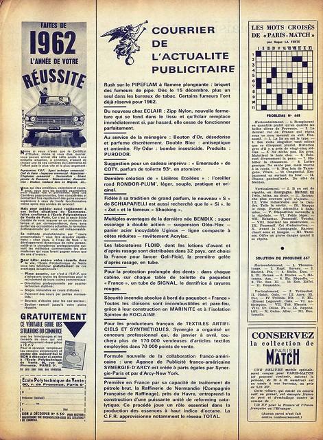 Paris Match, Nº 668, 27 Janvier, 1962 - 63