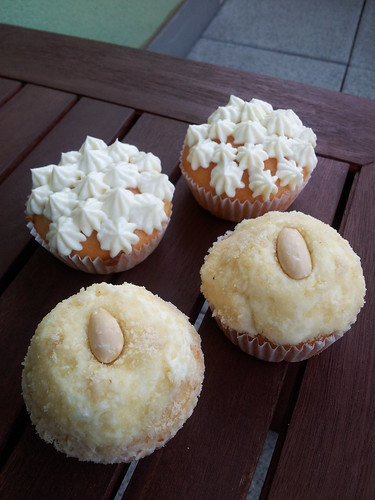 citronove, mandlove cupcakes
