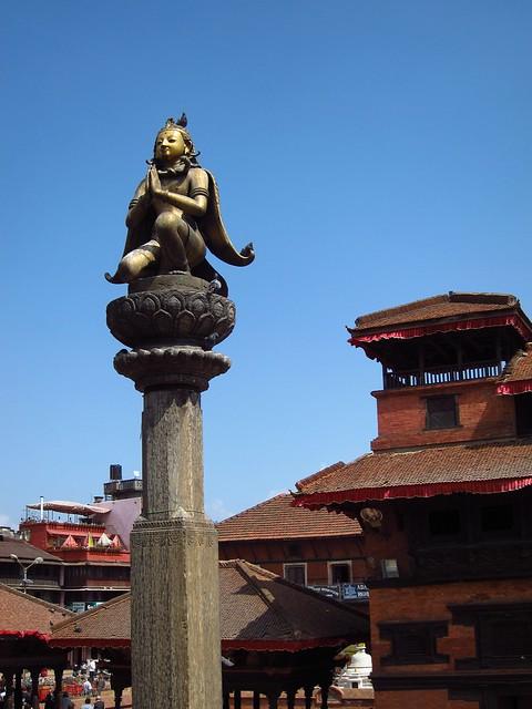 Statue in Patan's Durbar Square
