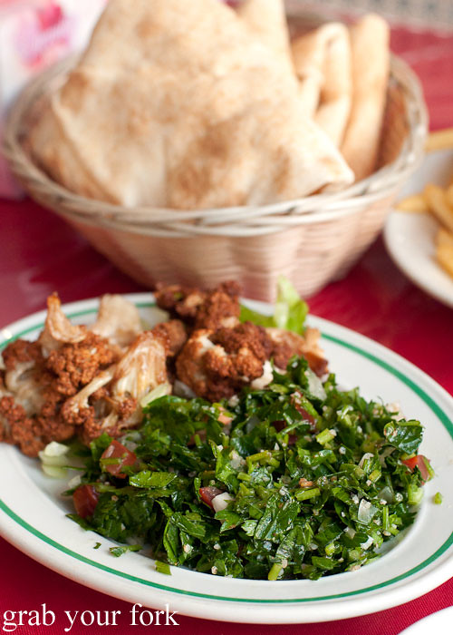 tabouli at habib's charcoal chicken, bankstown