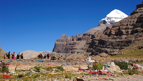 """Jhator"" a Sky burial site in the Valley of Gods along the Kailash kora, Tibet by reurinkjan"