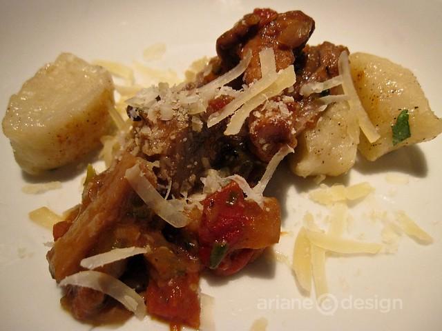 Mushroom ragout with gnocchi