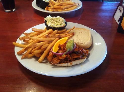 Pulled Chicken Sandwich by raise my voice