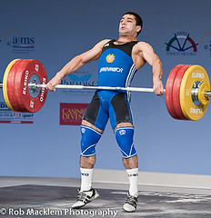 Martirosyan Tigran ARM 69kg 2008 European Weightlifting Championship sets two Jr World Records